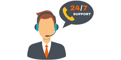 24/7 Live Shared Support