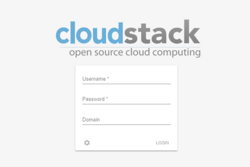 cloudstack login form