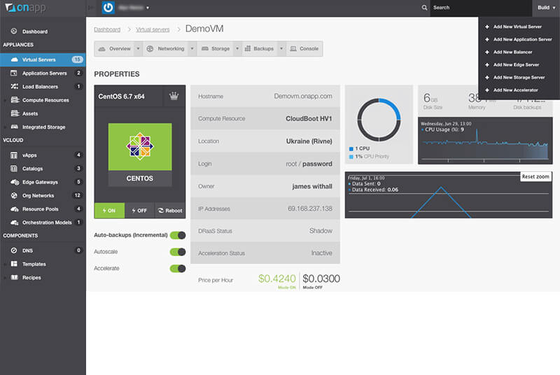 onapp cloud management dashboard