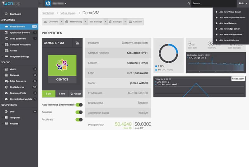 onapp cloud management dashboard