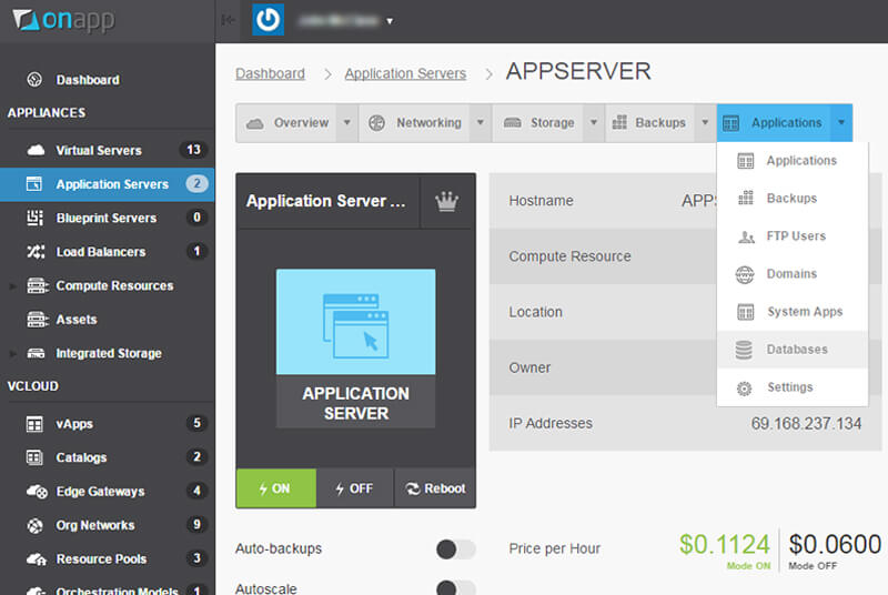 onapp application server